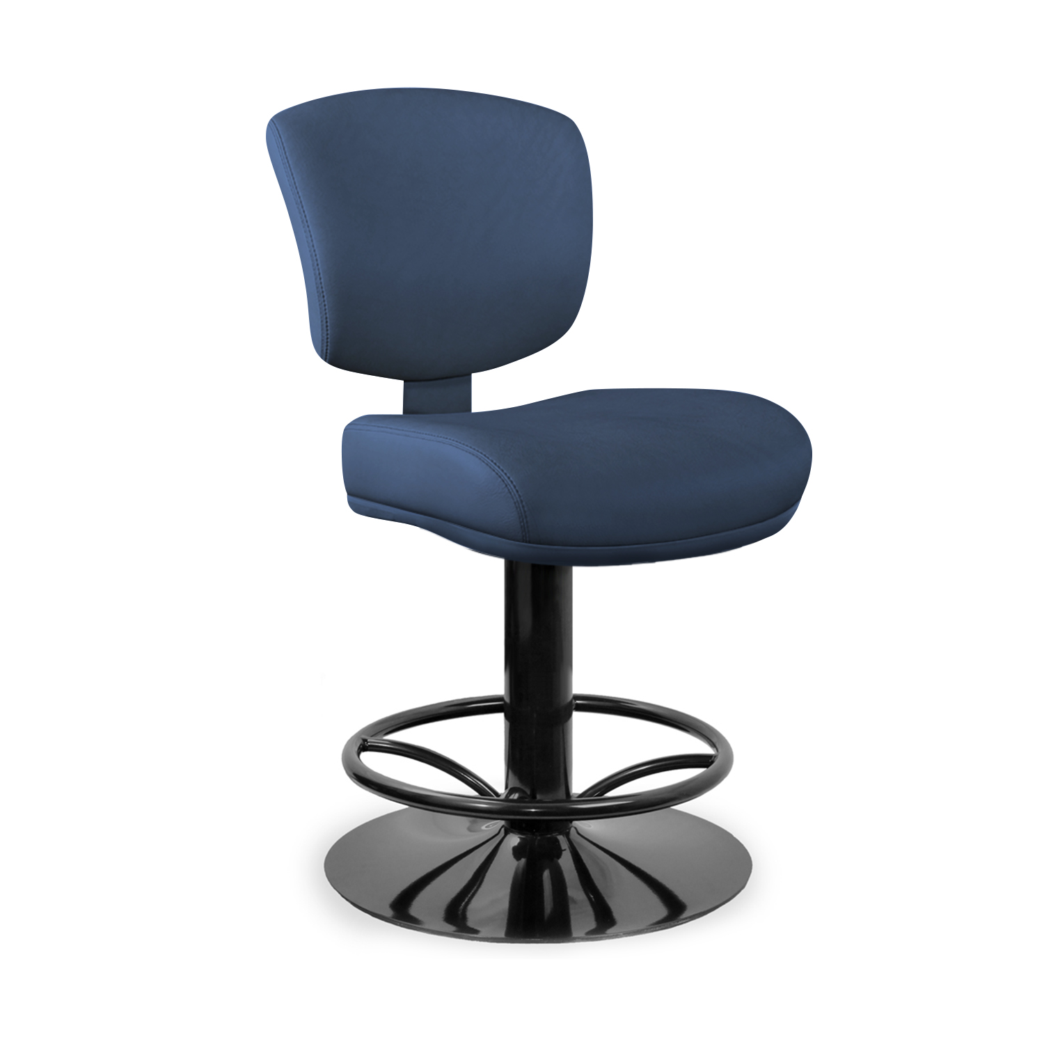 Fixed Pedestal with 4104 Curved Spoke Aluminum Footrest